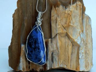 free form blue stone jewelry