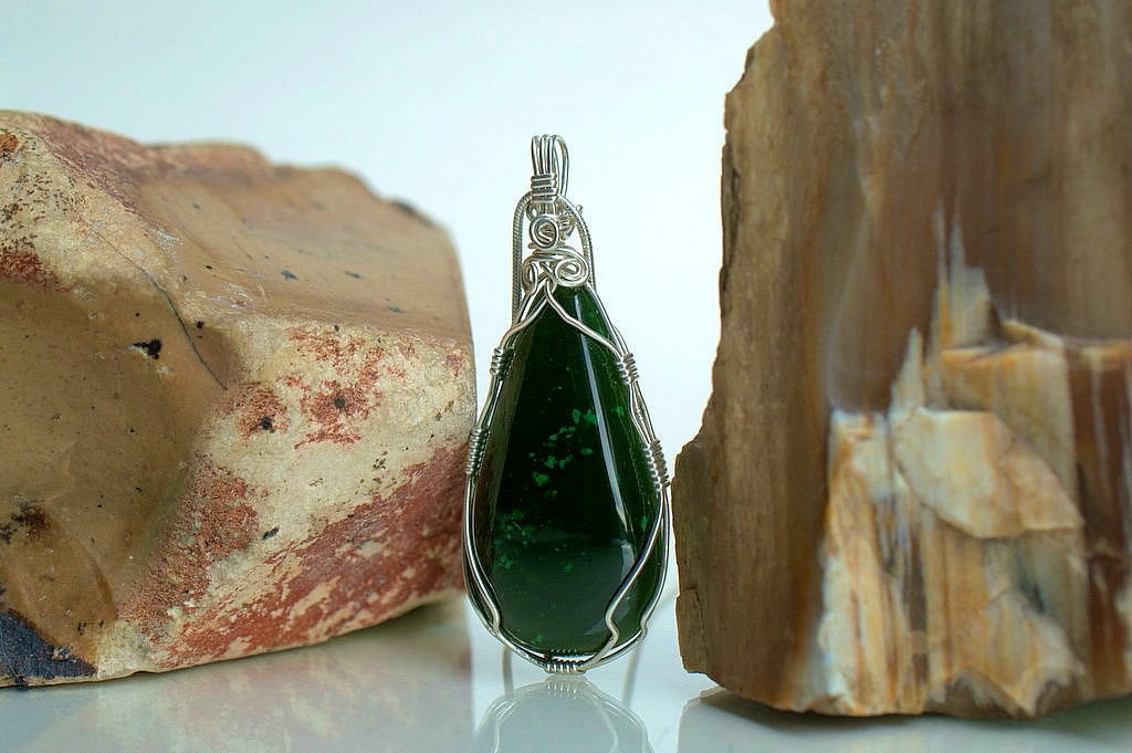 Green Jade stone necklace for all age and gender