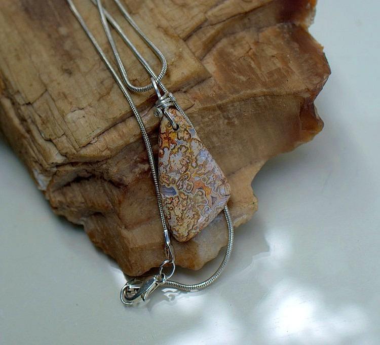 Vivid color gemstone, Crazy lace agate necklace