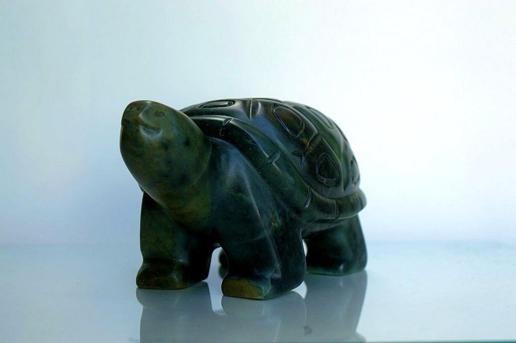 Tortoise stone figurine, original hand carving