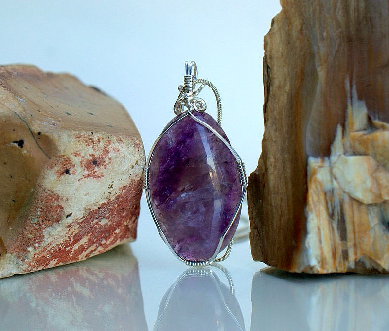Amethyst February birthstone, handmade jewelry