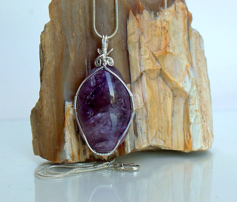 Brazilian origin purple quartz Amethyst necklace