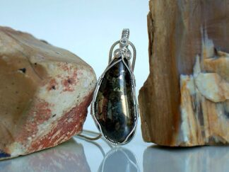 Shining gold like Pyrite stone pendant