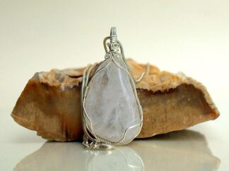 Large designed clear quartz pendant